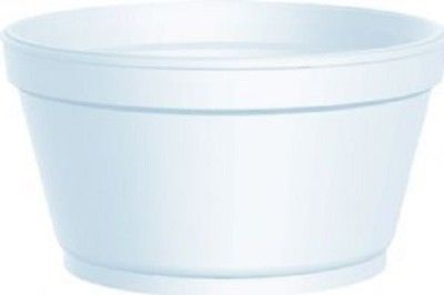 Dart Polystyrene White 4oz Tub  - Qty 1000