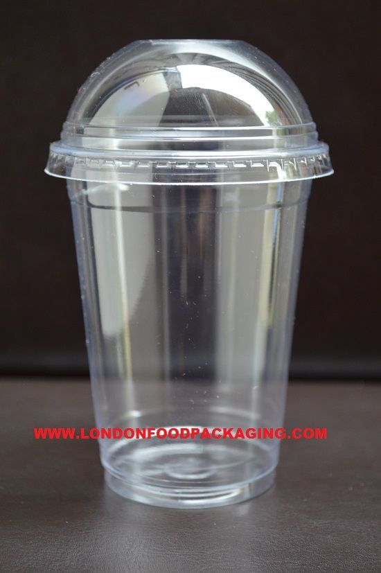 Somoplast Plastic Clear Cup And Lids Combo 400ml 12 14oz